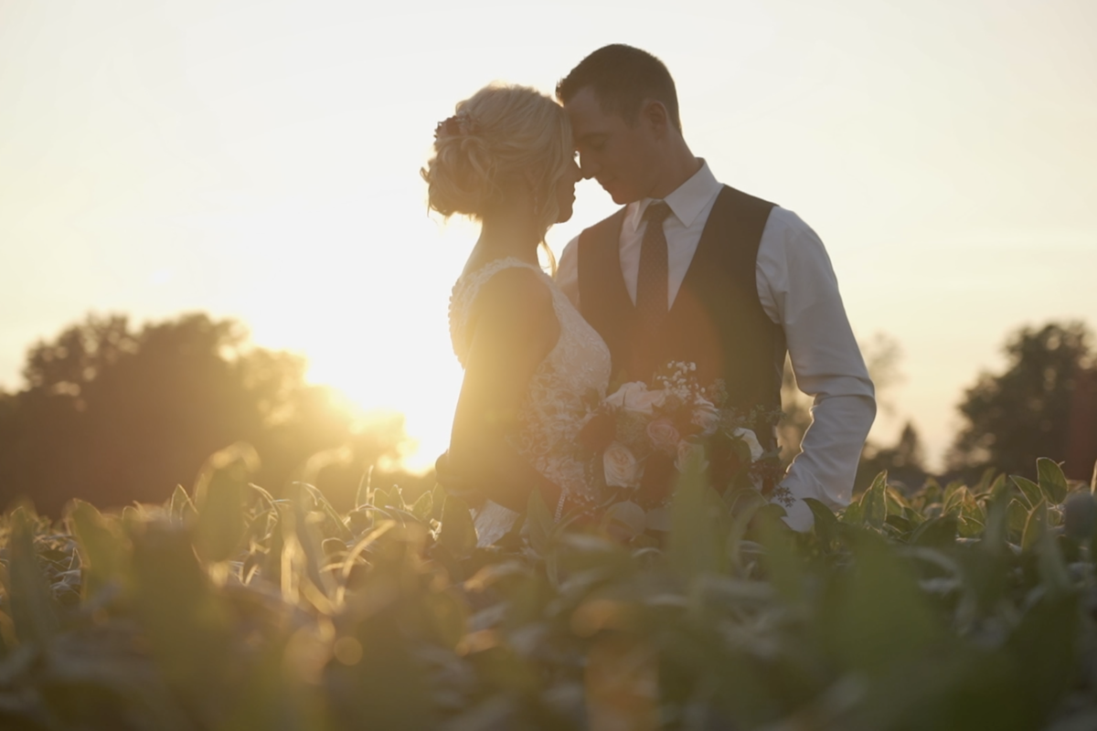 Gorgeous Wedding with sunset at Family Orchard